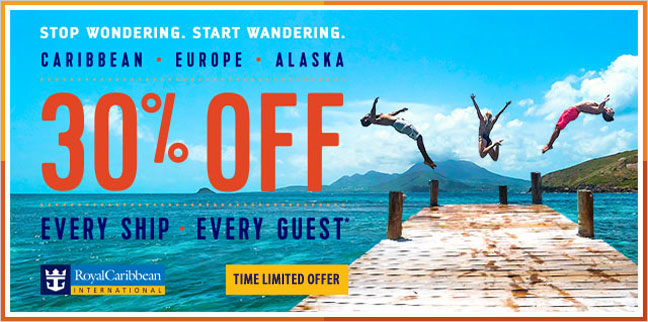 Royal Caribbean30% Off Every Ship Every Guest
