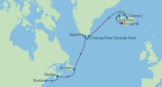 Iceland Cruise Map